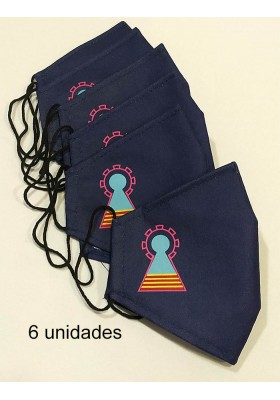 6 mascarillas Virgen